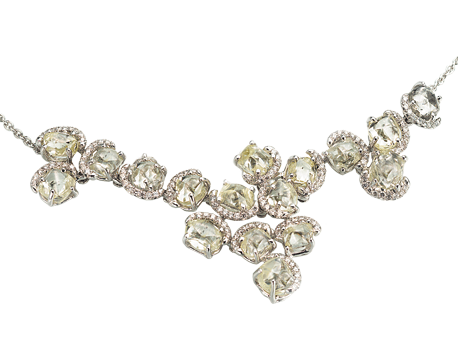 Champagne Bubbles Diamond Cluster Necklace