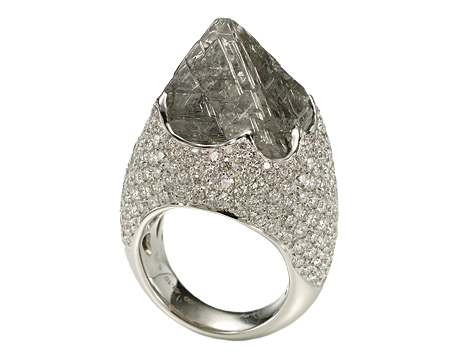Iceberg Rough Diamond Ring
